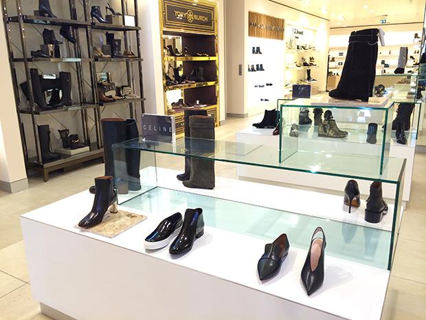 vernieuwde schoenenafdeling de Bijenkorf Amsterdam