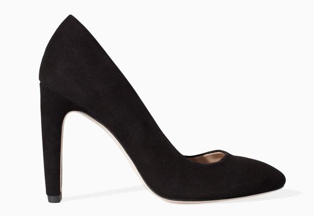 Zara suede black pumps
