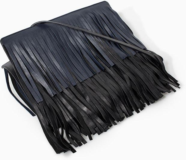 Zara fringe bag black