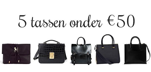 Zwarte budget tassen onder 50 euro